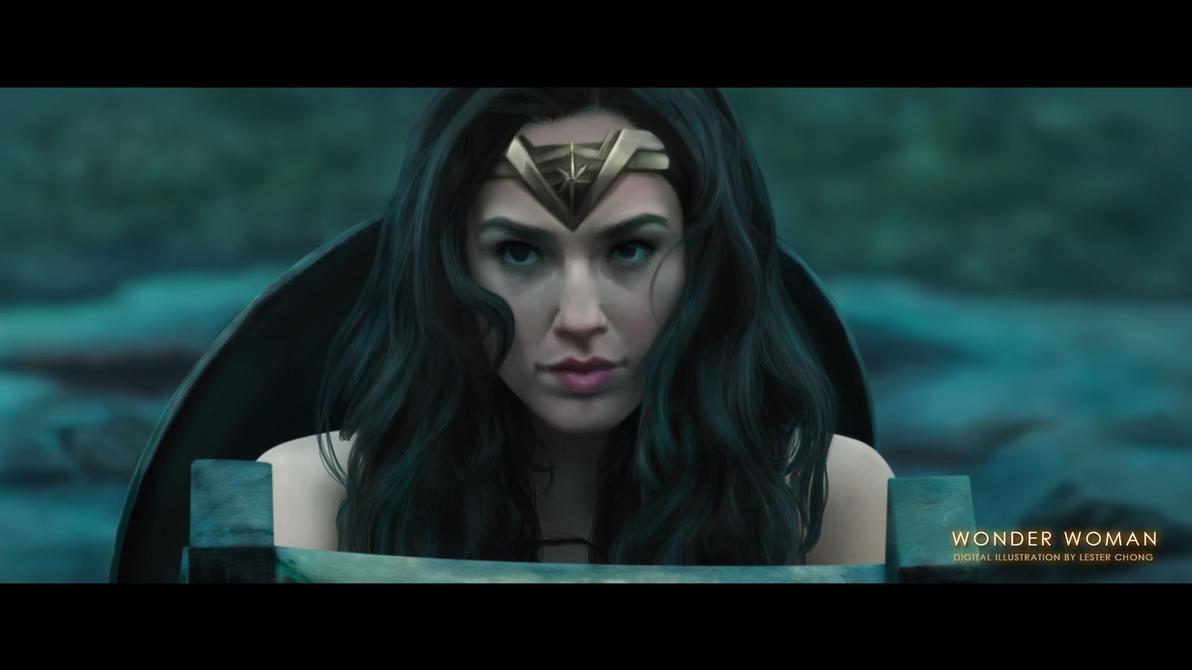 Portrait Drawing: Wonder Woman - Gal Gadot by lyzeravern