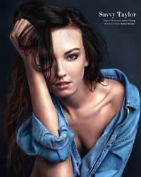 Portrait Drawing: Savvy Taylor by lyzeravern