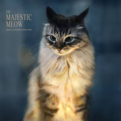 Animal Portrait: The Majestic Meow by lyzeravern