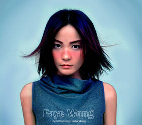 Portrait Drawing: Faye Wong