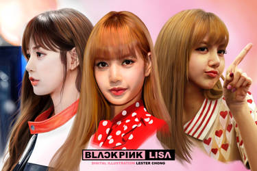 Portrait Drawing: Lisa from BLACKPINK by lyzeravern