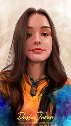 Portrait Painting: Dasha Taran 03
