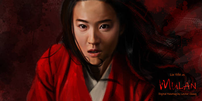 Portrait Painting: Liu Yifei as Mulan