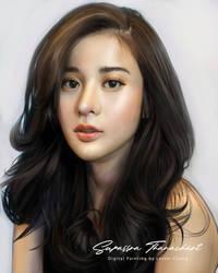 Portrait Painting: Kao Supassra Thanachart
