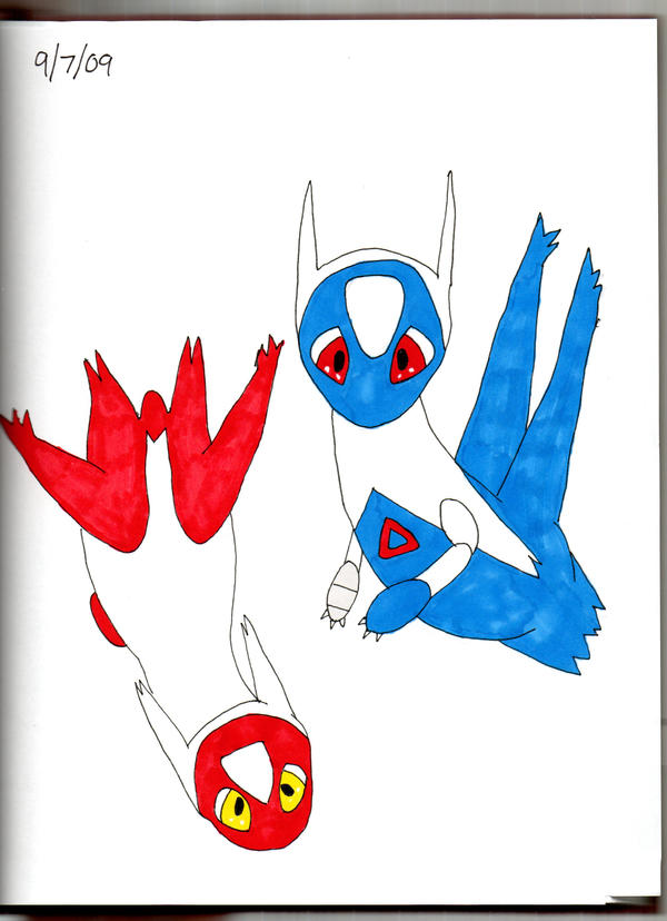 Baby Latios and Latias by Itachislilgirl on deviantART