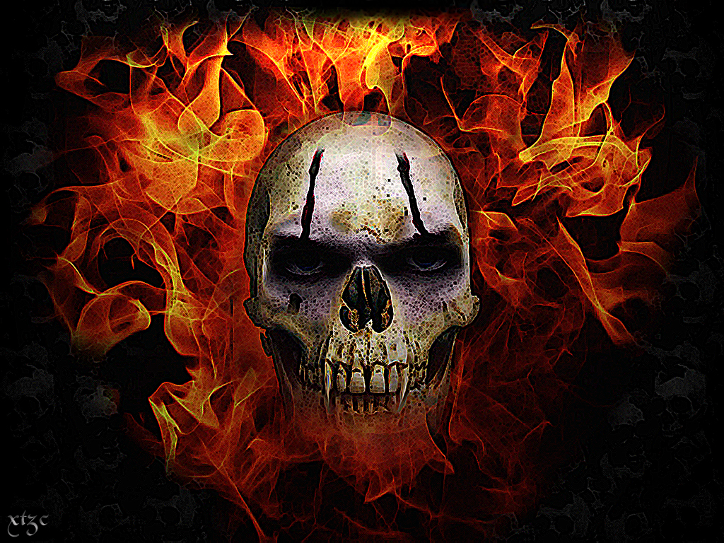 Skull With Flames Pictures  Viewing Gallery