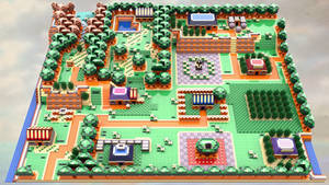 Legend of Zelda Link's Awakening:Mabe Village Lego