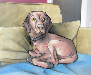 A drawing of my dog Ted