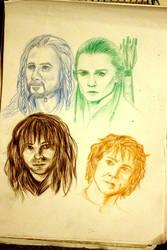My Favorite Hobbit Characters by JennaTheLilMonster