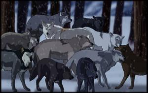 Wolf Pile Remake by SabraeTrash