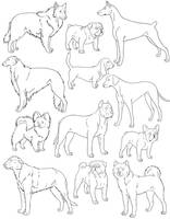 Free Dog Lines 3 by SabraeTrash