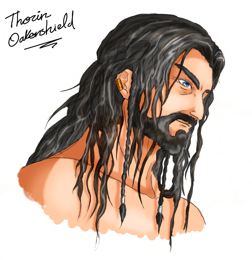 Galería de Fan Arts Thorin_oakenshield_portrait_by_soldream-d863f6a