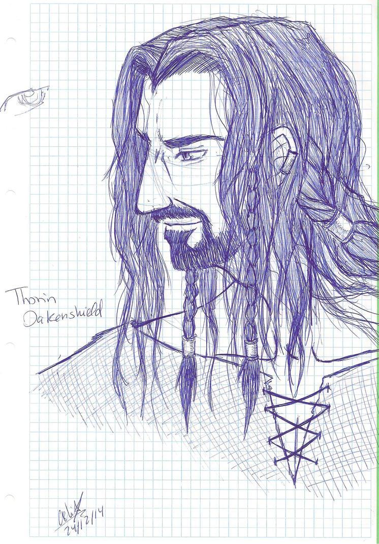 Galería de Fan Arts - Página 2 Thorin_oakenshield__fast_pen_draw__by_soldream-d8bkoxq