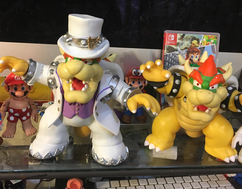 super mario odyssey bowser custom action figure by medicom