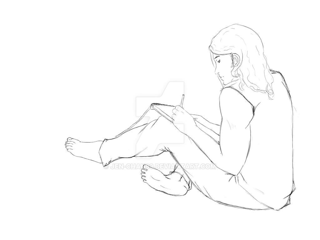 boy drawing by Jen-Chan93