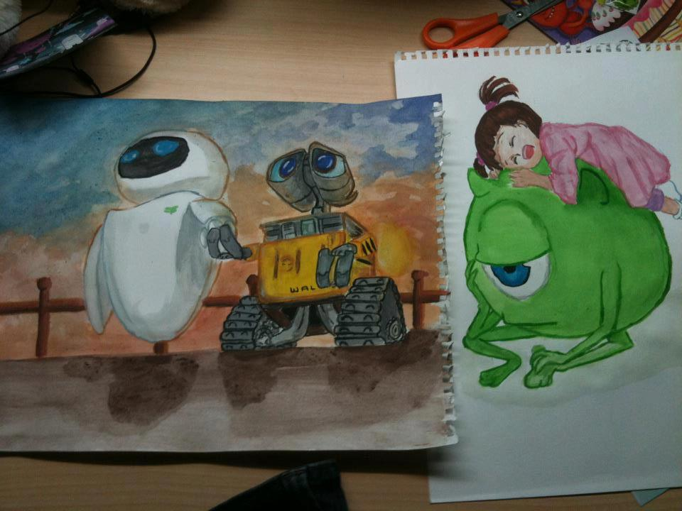 Wall-e and Monster.inc by Jen-Chan93 on DeviantArt