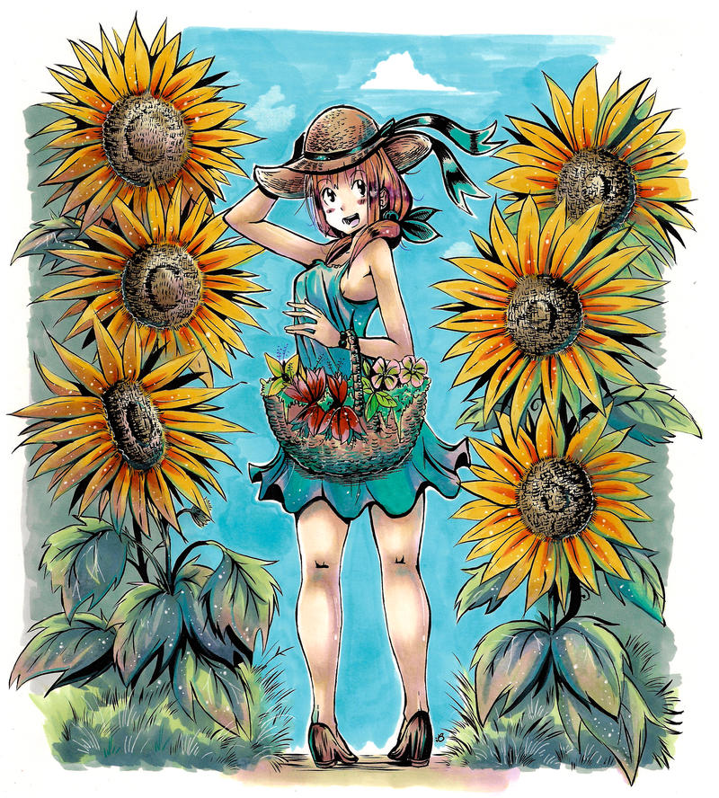 Sunflowers by KenronToqueen