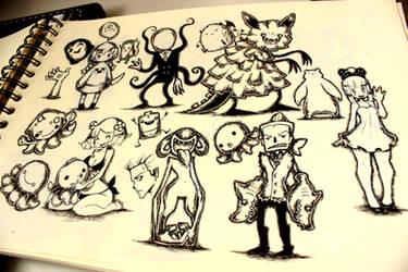 INK DOODLES by KenronToqueen