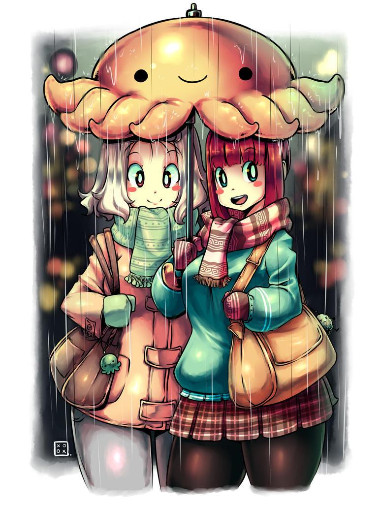Octo Umbrella by KenronToqueen