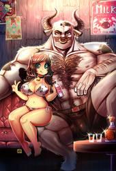 Toro Sama y Cownie by KenronToqueen