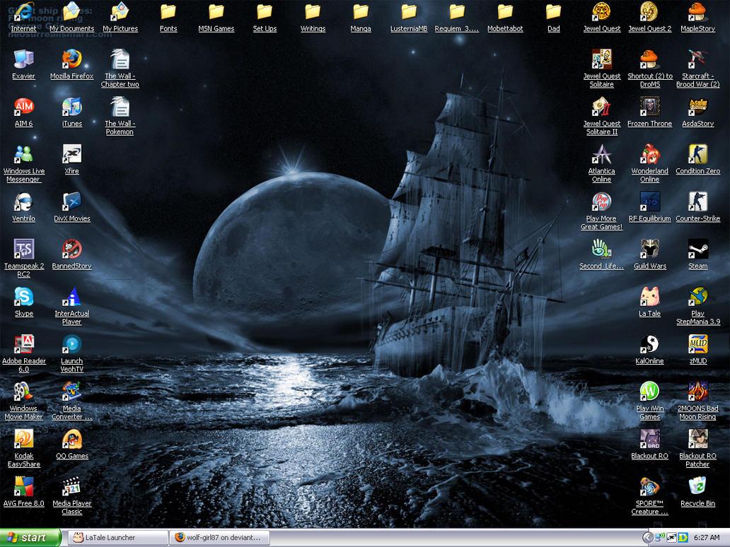 Ghost Ship Desktop by wolf-girl87