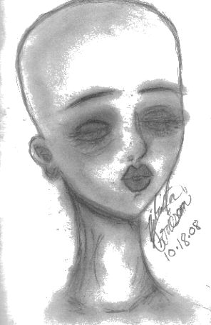 Bald Woman by wolf-girl87