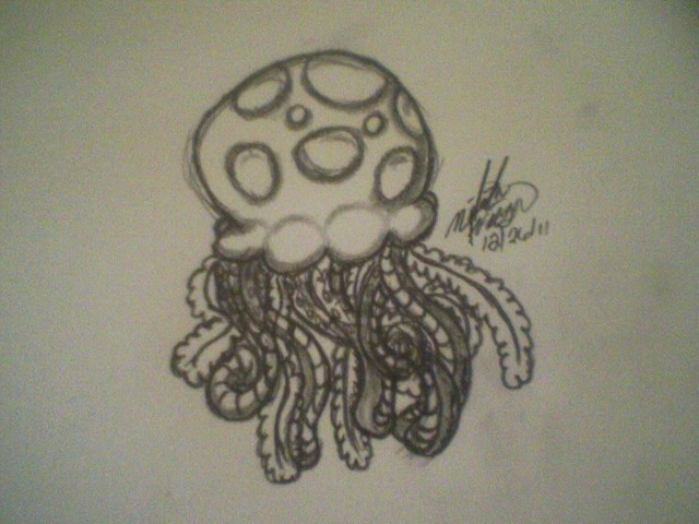 Tiny Spotted Jellyfish by wolf-girl87