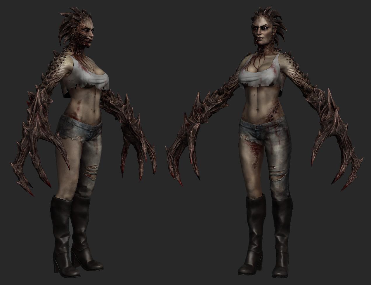 nude sexy female zombie