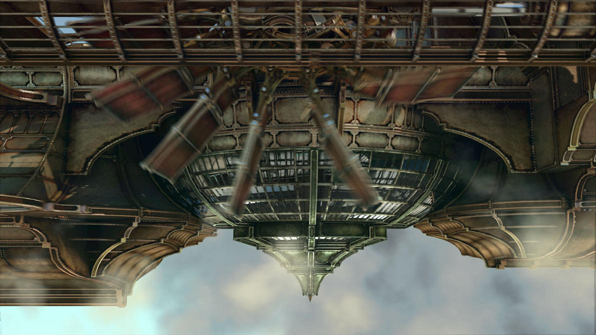 flying steampunk aircraft by jamis27