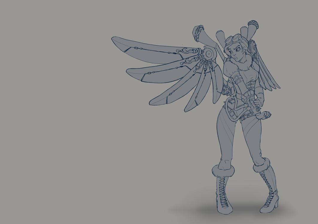 steampunk angel by jamis27