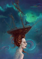 Fish and Ships by MissCorbac
