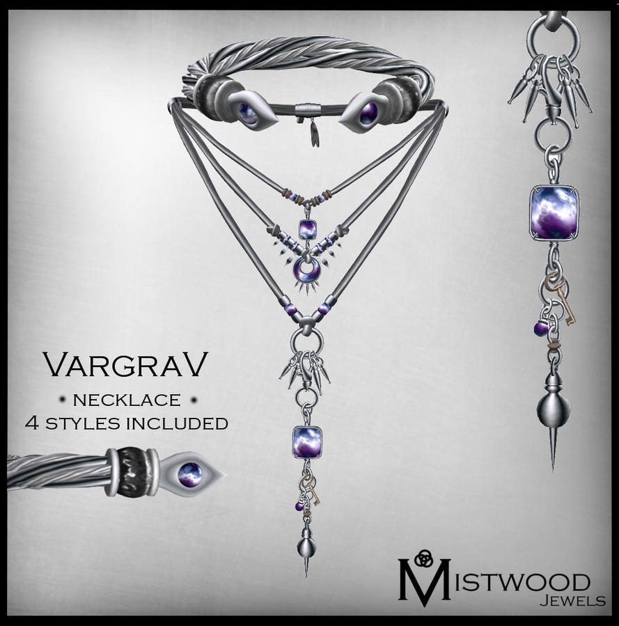 VargraV - Unisex Necklace Amethyst version by Aedil