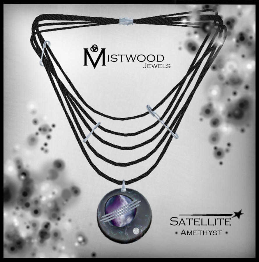 Satellite - unisex necklace amethyst version by Aedil