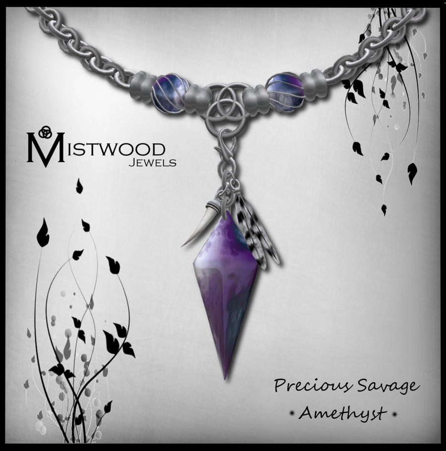Precious Savage - unisex necklace amethyst version by Aedil