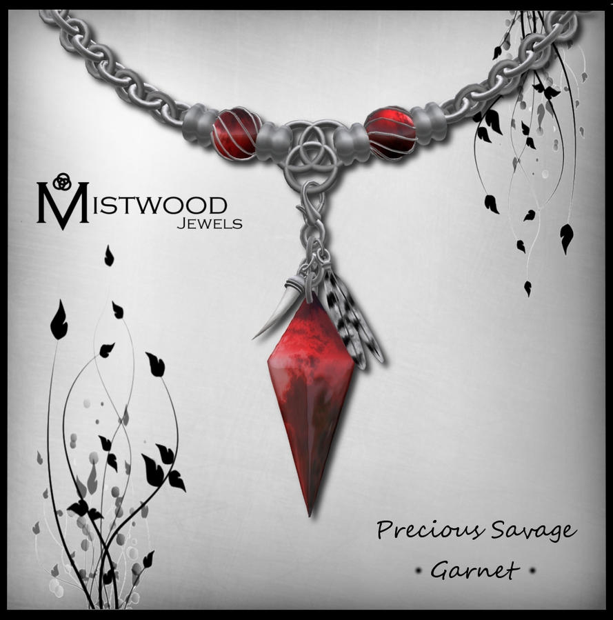 Precious Savage - unisex necklace garnet version by Aedil