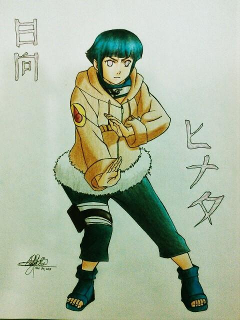 Hyuuga Hinata from Naruto by HaruXHaru