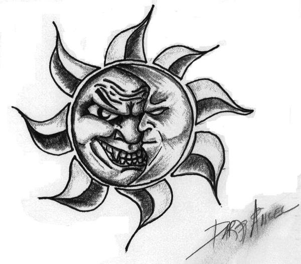 Demented sun and moon by ACKZ-TWISTED-ART on DeviantArt