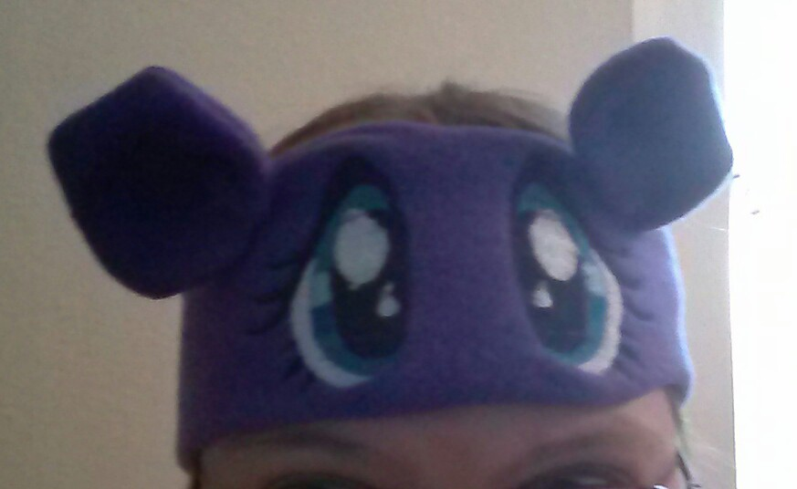 MLP headband with embroidered eyes by Moongoyal