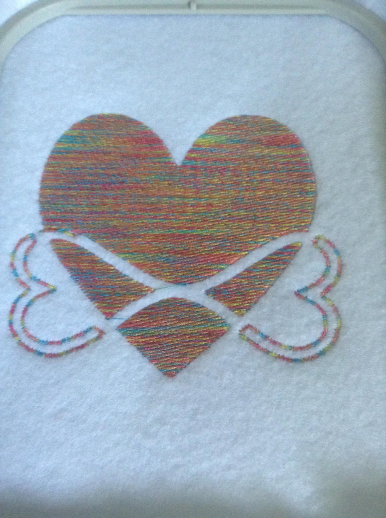 Infinity heart embroidered by Moongoyal