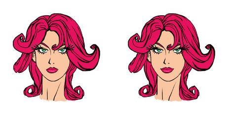 Raffaela portrait (Two Expressions)