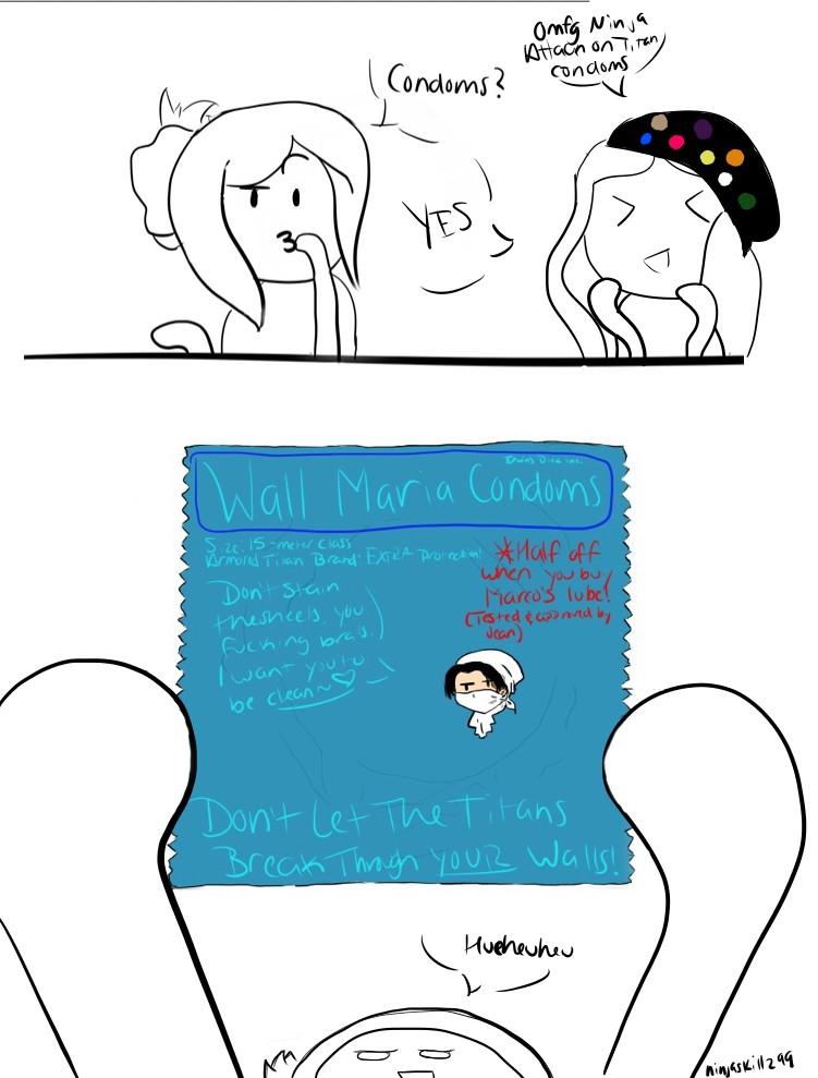 Attack on Titan Condoms by NinjaSkillz99