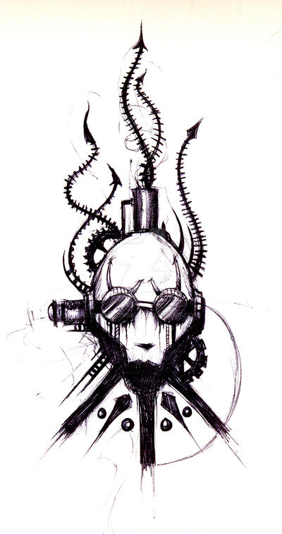 Steampunk Sketch by ShawnCoss