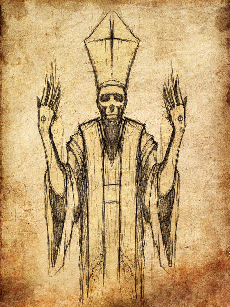Stigmata Priest Sketch by ShawnCoss