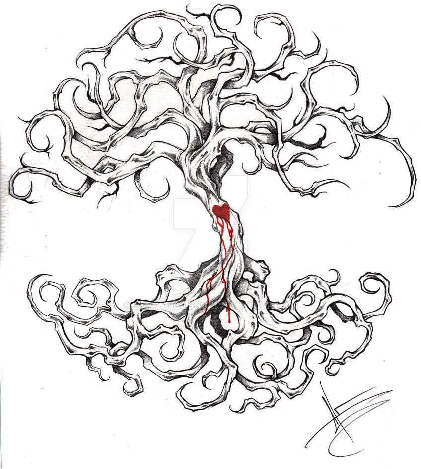 tree of life tattoo by shawncoss on deviantart. Black Bedroom Furniture Sets. Home Design Ideas