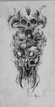 Skully Demon Abomination sleeve