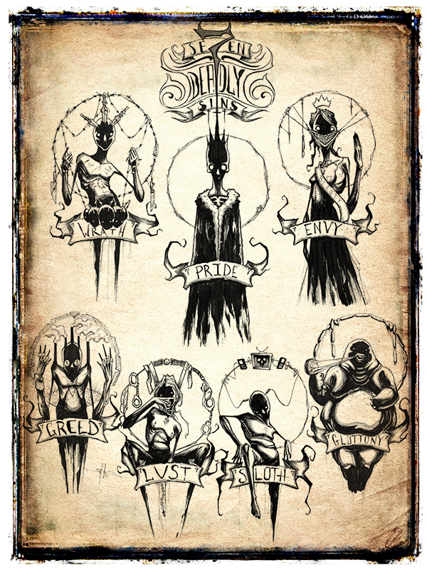 Se7en deadly sins by shawncoss on deviantart for Seven sins tattoo