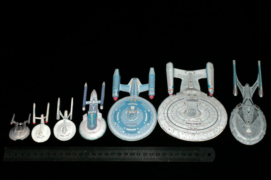 The Enterprise Paper model Collection by ThunderChildFTC