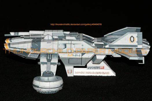 Mass Effect Hammerhead Paper model Side view