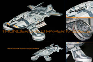 Mass Effect Hammerhead Paper model Details by ThunderChildFTC