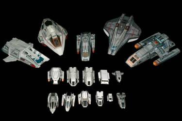1:200 Trek Shuttle collection by ThunderChildFTC
